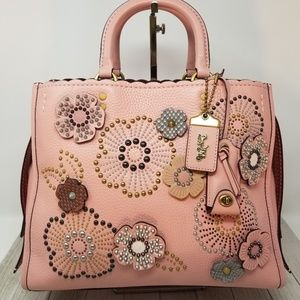 Coach Exquisite Tea Rose Rogue Handbag